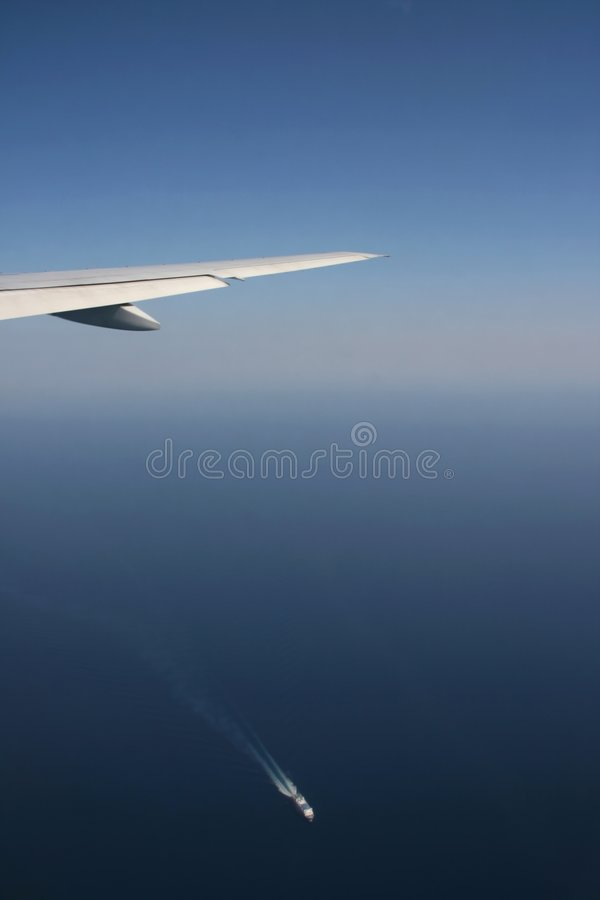 Airplane And Ship Royalty Free Stock Photo