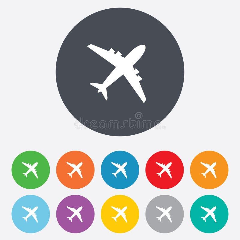 Airplane sign. Plane symbol. Travel icon. royalty free illustration