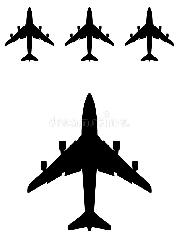 Airplane silhouette stock illustration