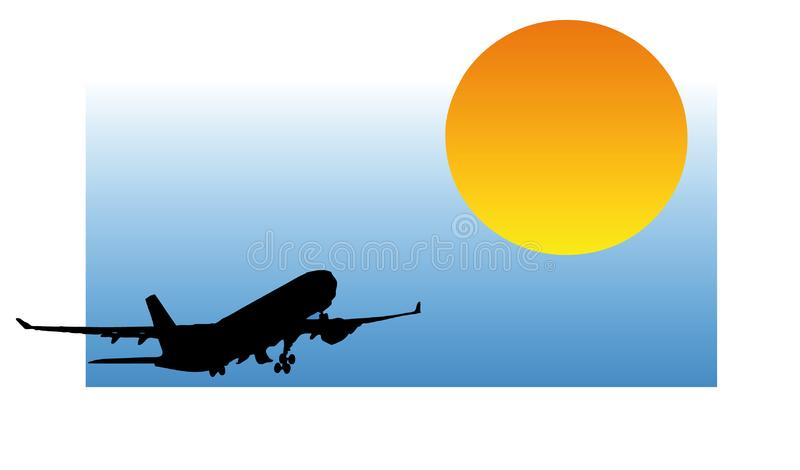 Download Airplane silhouette stock vector. Illustration of airliner - 7736407
