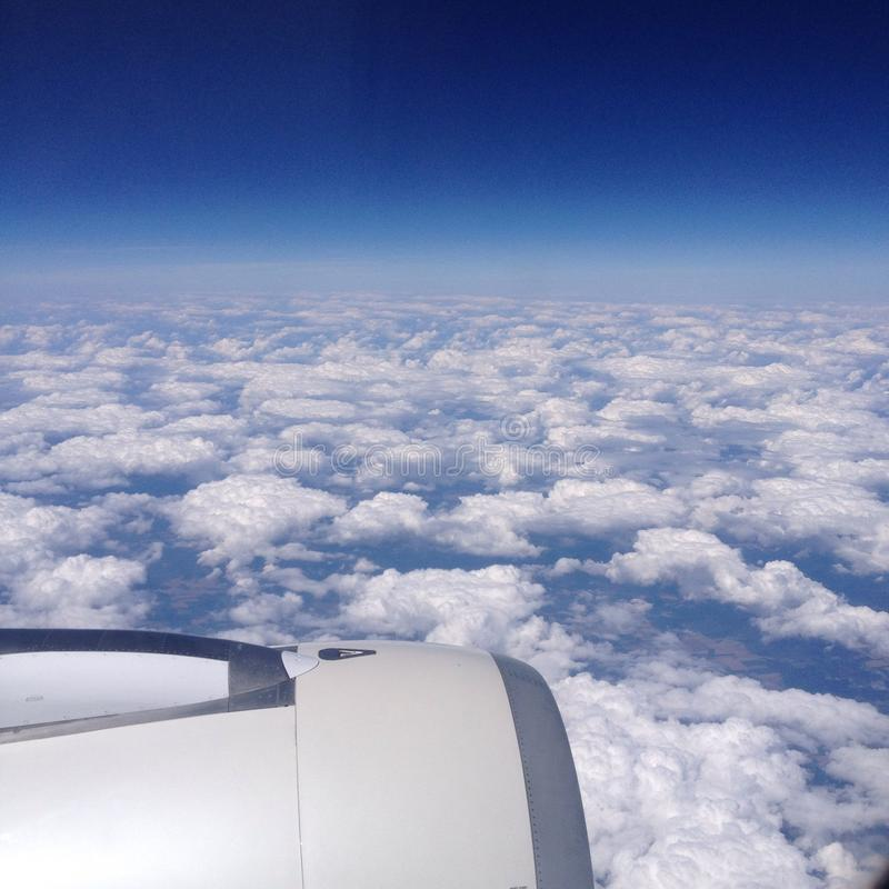 At an airplane royalty free stock photo