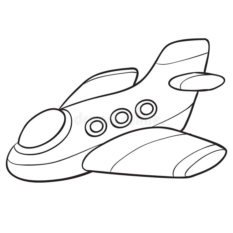 Free Airplane Sketch, Coloring, Isolated Object On A White Background, Vector Illustration, Royalty Free Stock Photography - 186244357