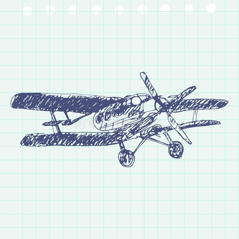 Airplane Drawing Hand Stock Illustrations – 2,528 Airplane