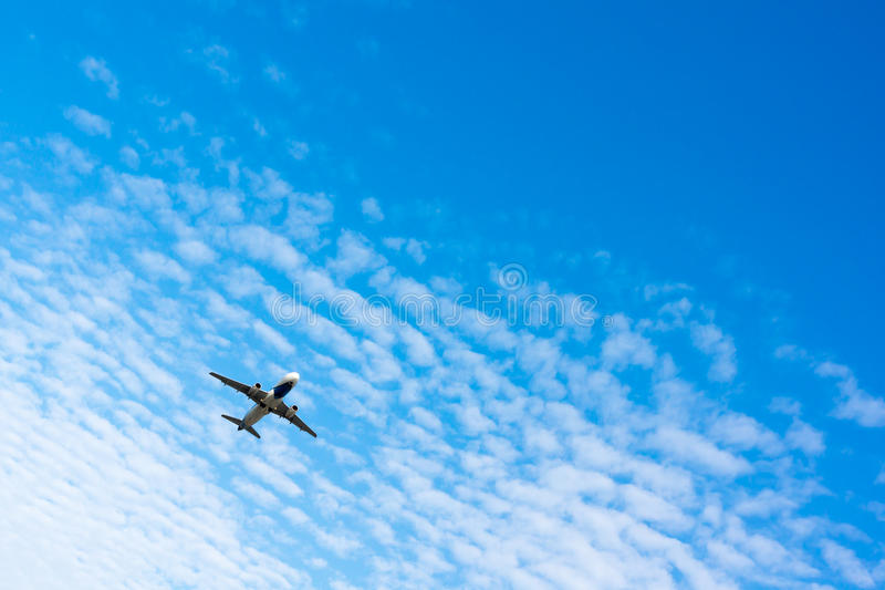 Download Airplane In The Sky Stock Photo - Image: 41170428