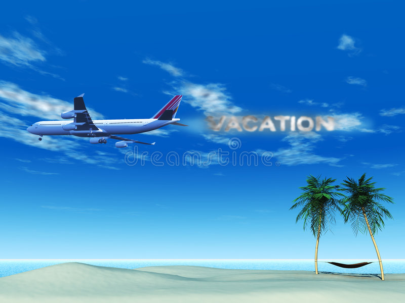 Download Airplane With Smoke Spelling The Word Stock Illustration - Image: 9342743