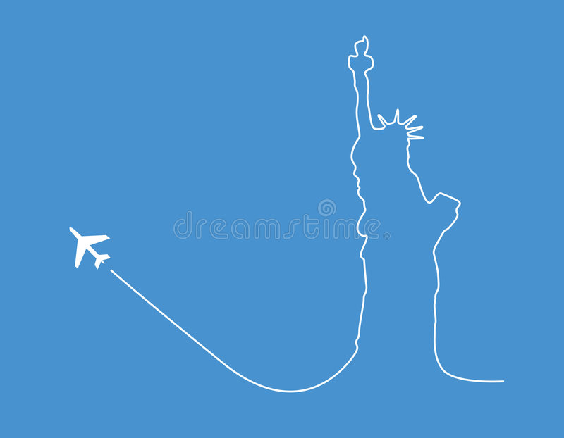 Download Airplane statue silhouette stock vector. Illustration of climb - 2497259