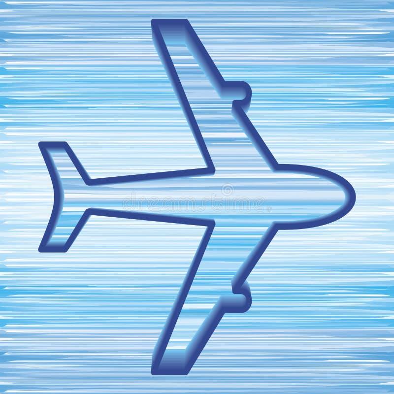 Airplane Symbol Stock Photography