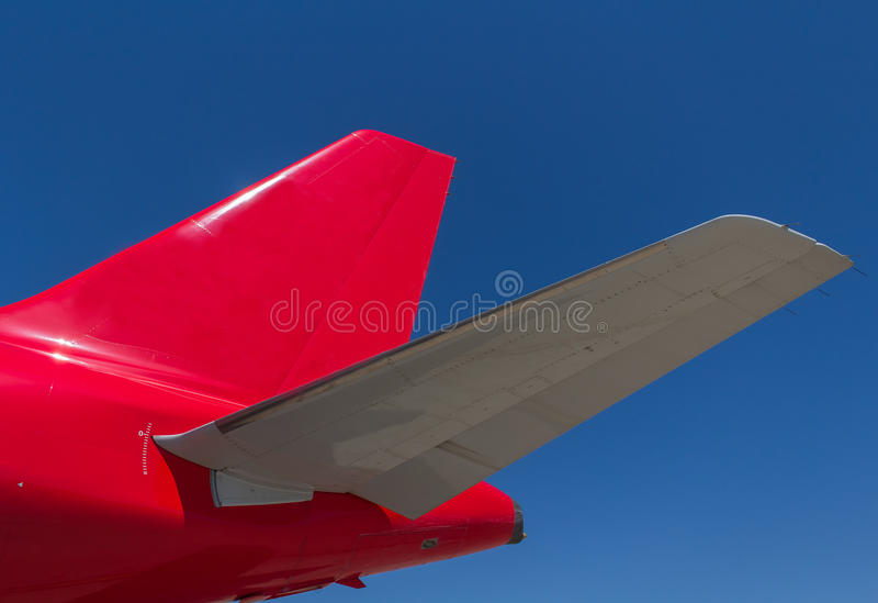 Airplane tail royalty free stock photography