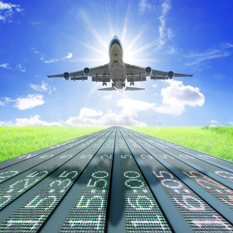 Download Airplane take off stock image. Image of blue, clear, abroad - 19646597