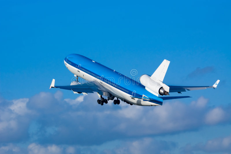 Download Airplane On Takeoff Stock Photo - Image: 3007920