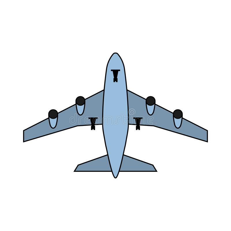 Airplane Takeoff Icon. Outline With Color Fill Design. Vector Illustration vector illustration