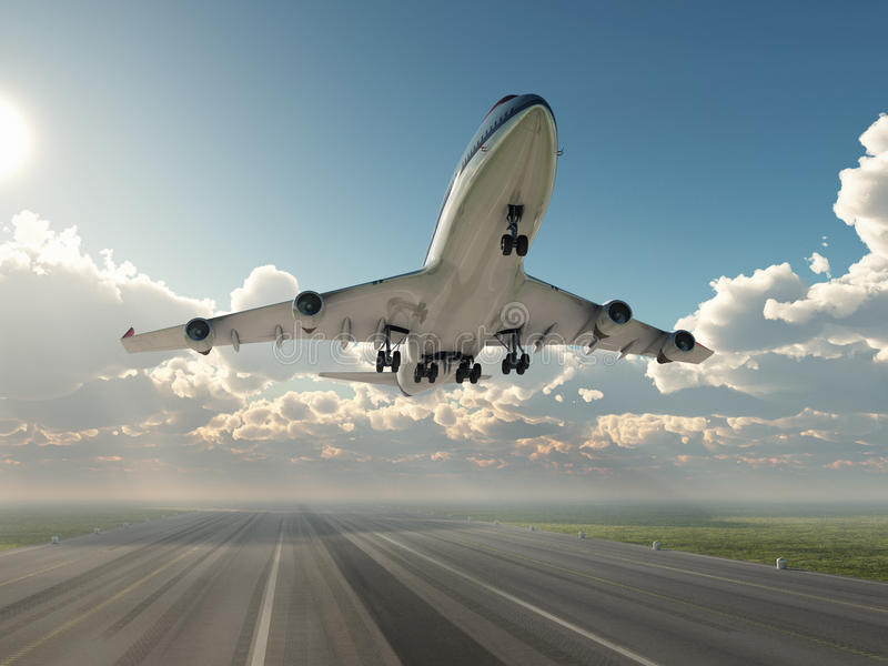 Airplane Taking Off Stock Image