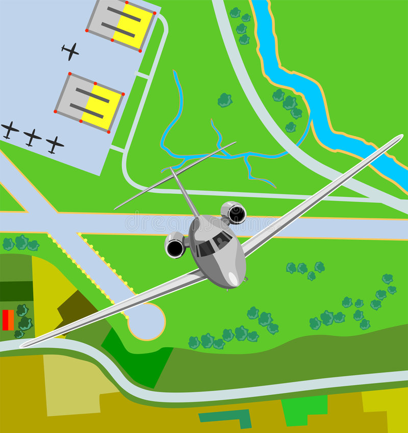 Download Airplane taking off stock vector. Illustration of runway - 3306876