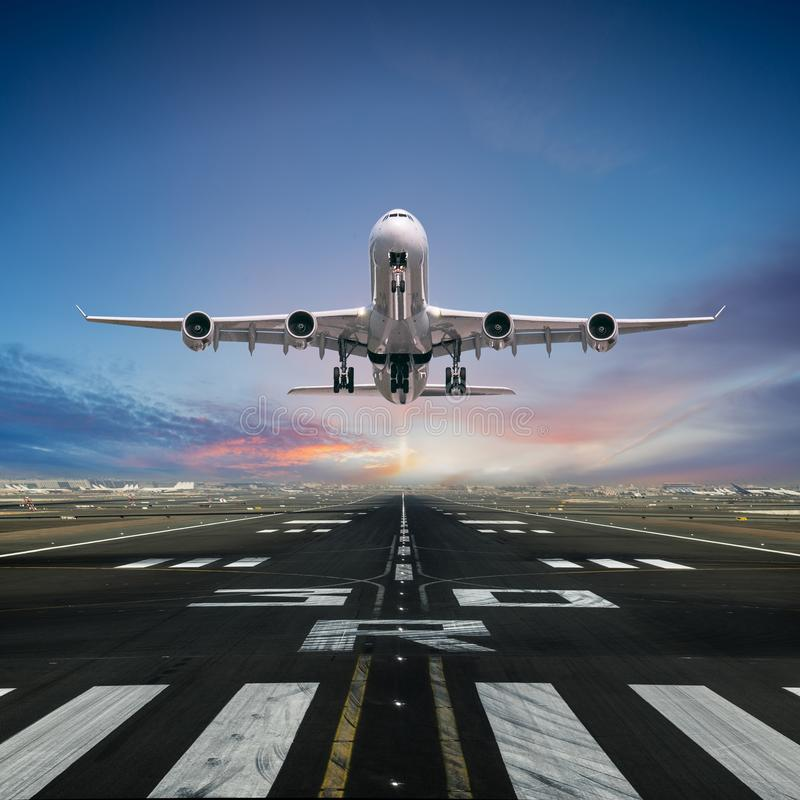 Free Airplane Taking Off From The Airport. Stock Image - 136770121
