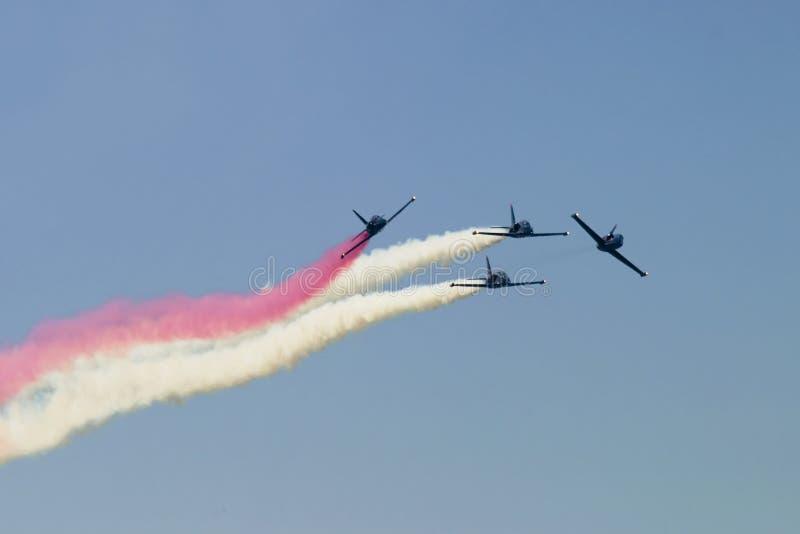 Airplane Teamwork royalty free stock images