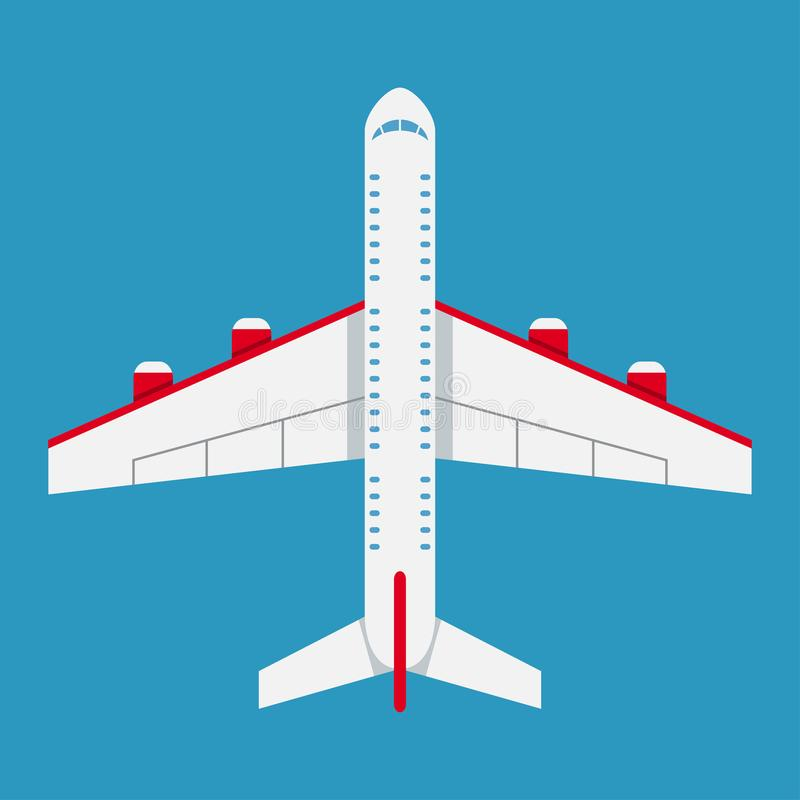 Airplane of top view. Aircraft icon in flat style. Vector. vector illustration