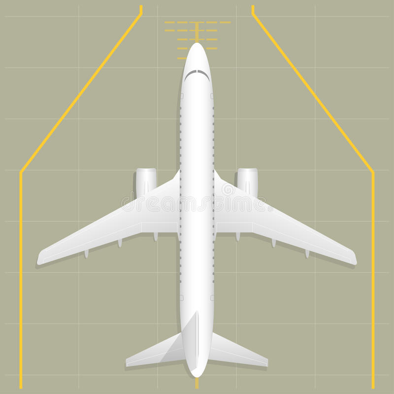 Airplane. Top view stock photography