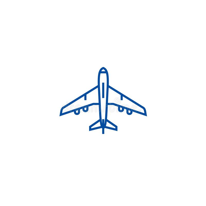 Modern Vector Line Icon Of Airplane Flight Vacation Trip