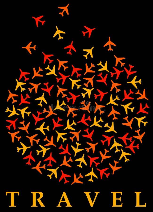Download Airplane travel stock illustration. Illustration of airway - 28179821
