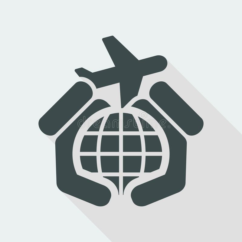 Airplane travel icon stock illustration
