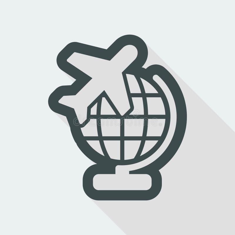 Airplane travel icon vector illustration