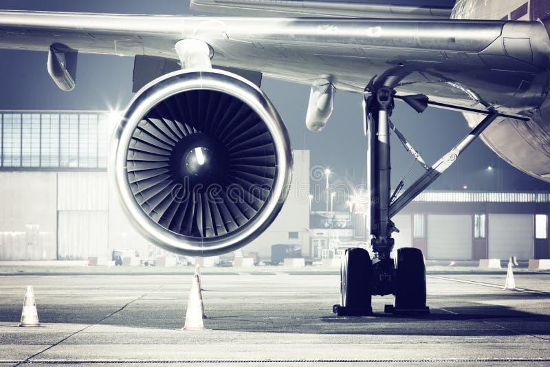 Airplane turbine detail stock images