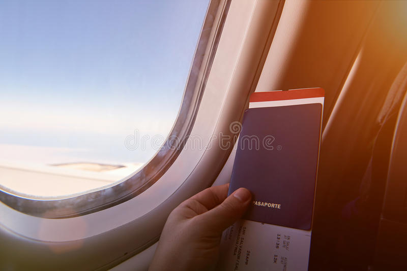 Airplane vacation journey stock image
