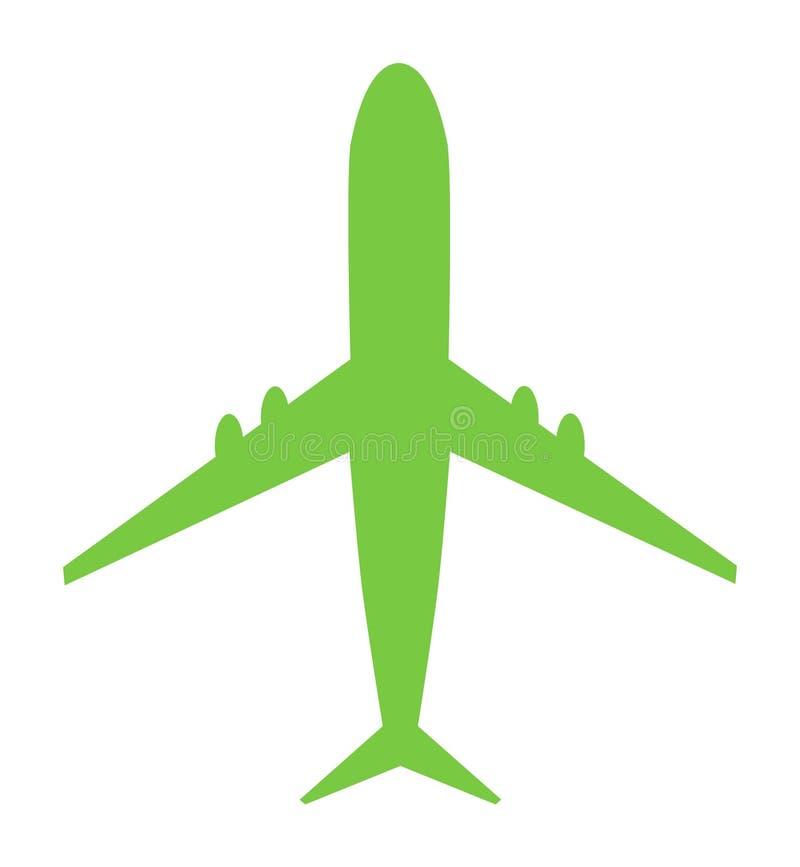 Airplane vector icon. Modern design, Fly travel symbol on white background stock illustration