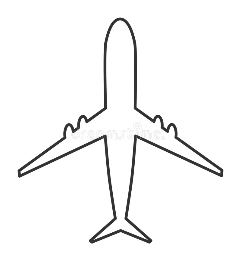 Airplane vector icon. Modern design, Fly travel symbol on white background vector illustration