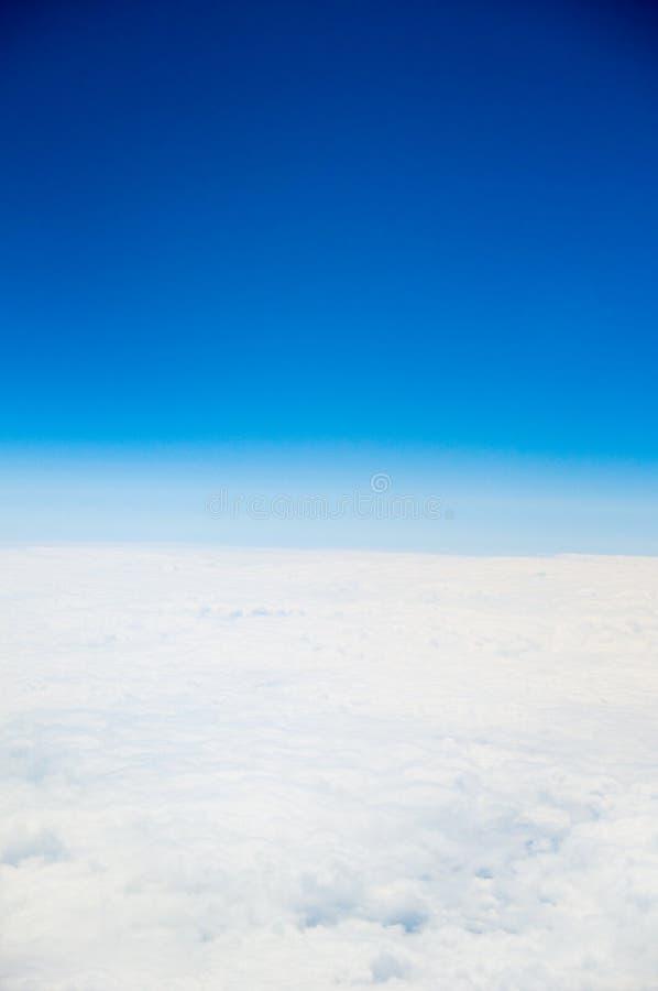 Airplane view stock photo