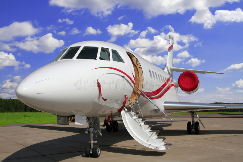 Airplane for vip flights stock photo