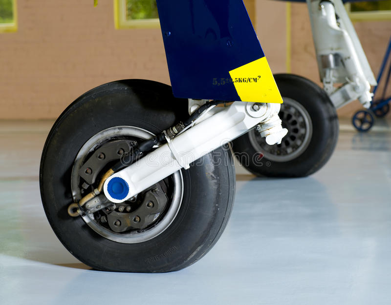 Airplane Wheel Royalty Free Stock Images