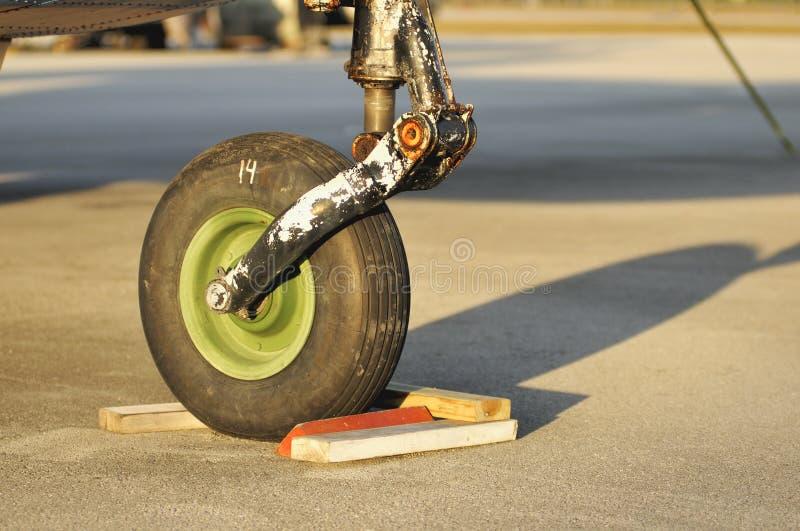 Airplane Wheel Stock Photography