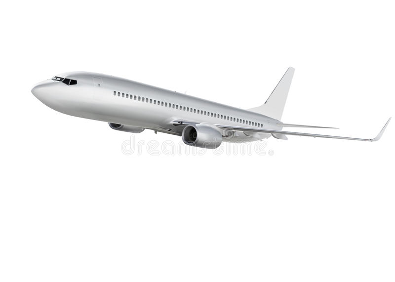 Download Airplane On White Background With Path Stock Illustration - Image: 33231533