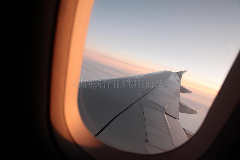 Download Airplane Window stock photo. Image of wing, holidays - 12182618