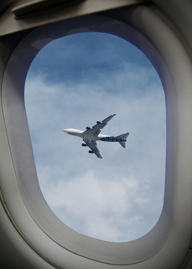 Free Airplane Window Royalty Free Stock Photography - 24493167