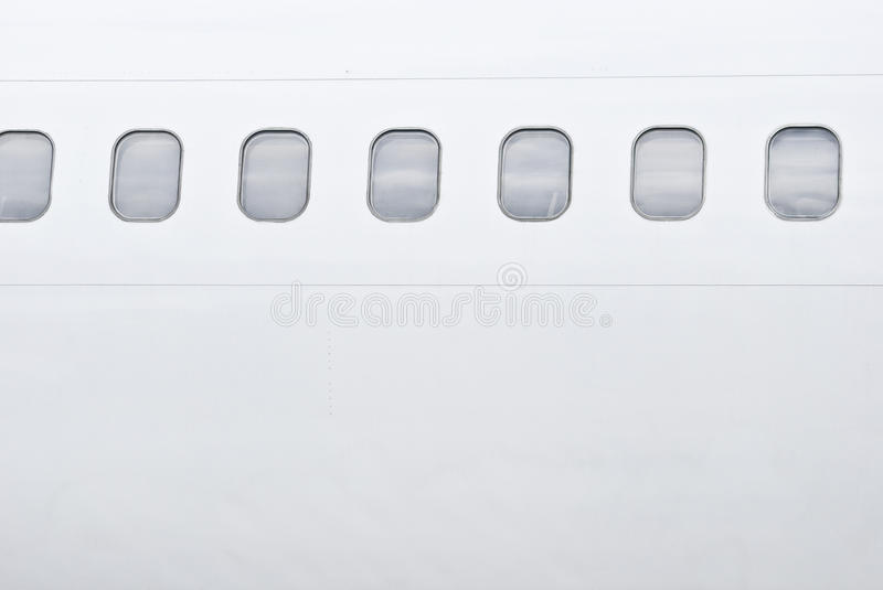 Airplane windows stock images