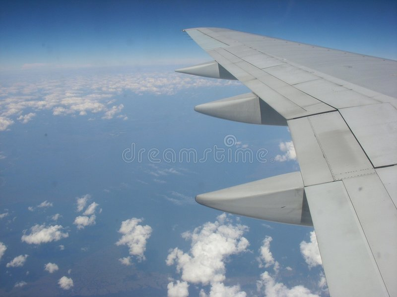 Download Airplane Wing In The Atmosphere Stock Image - Image: 7212991