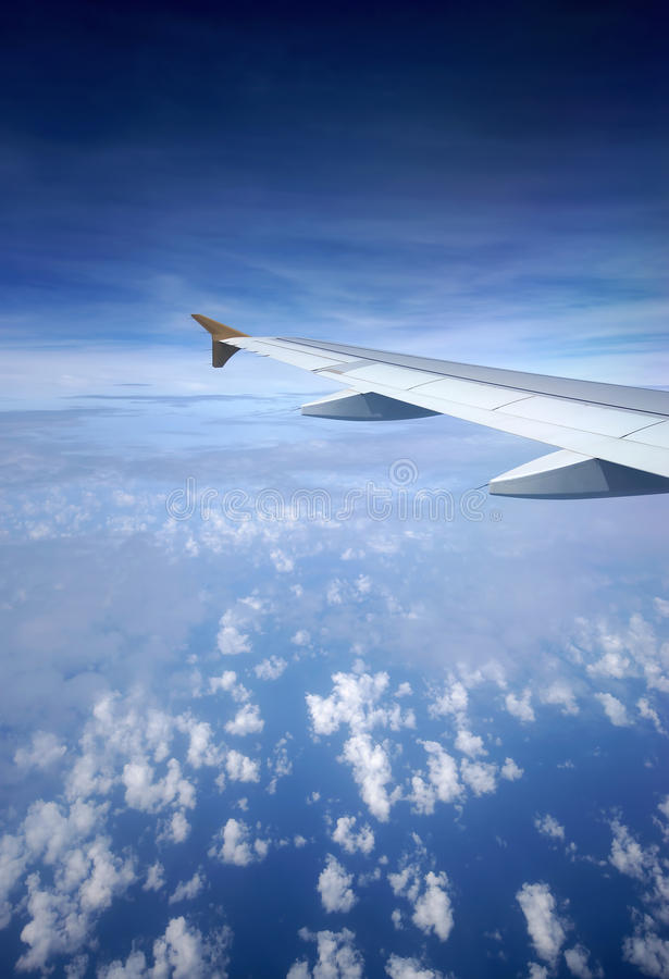 Download Airplane Wing In Flight stock image. Image of cumulus - 33266663