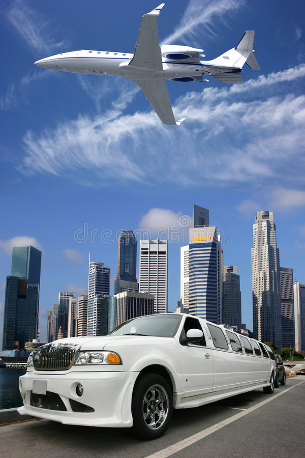 Airplanelimousine in Singapore stock image