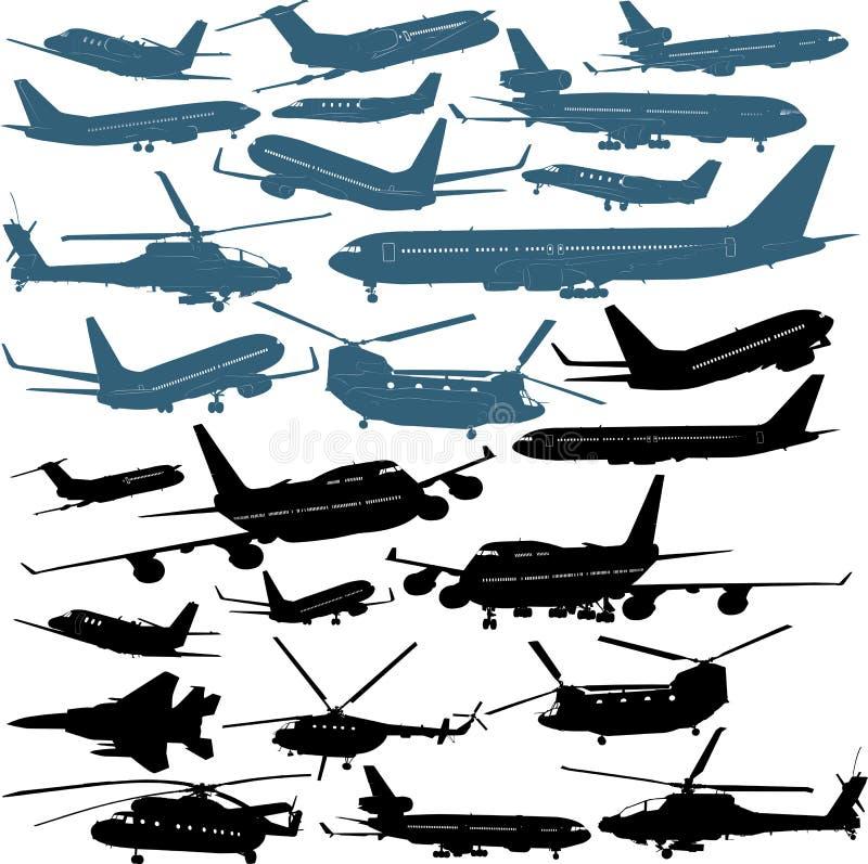 Airplanes stock illustration
