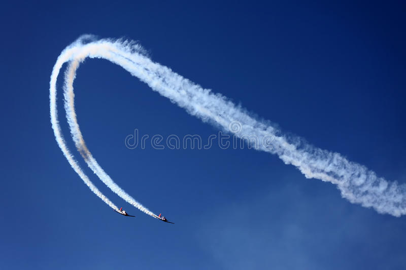 Download Airplanes on air show stock image. Image of plane, cloudy - 27643691