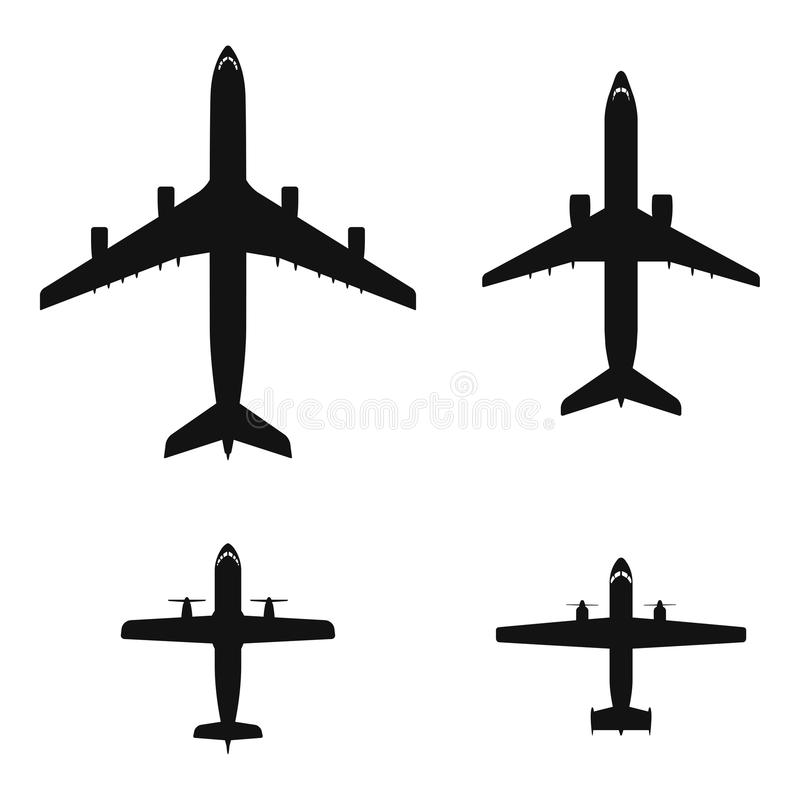 Airplanes royalty free illustration