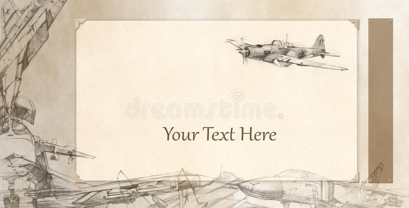 Airplanes card royalty free illustration