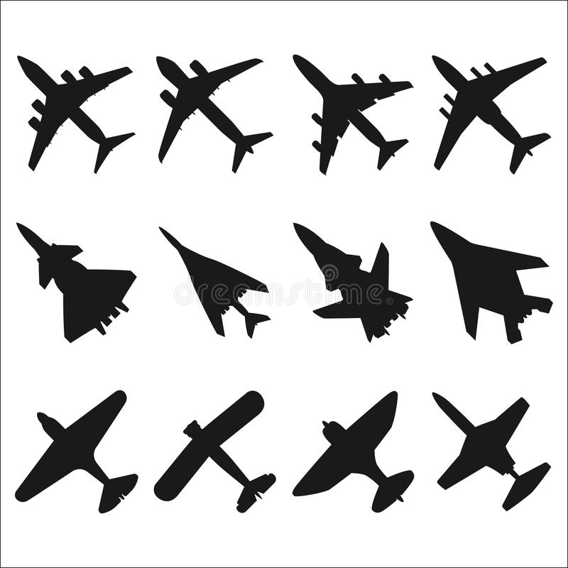 Download Airplanes Silhouettes Stock Vector - Image: 42522968