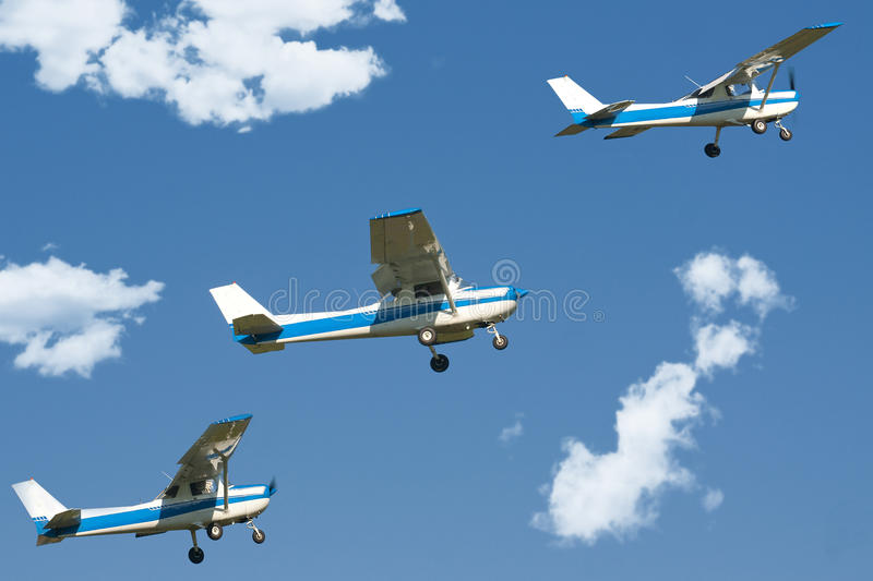Airplanes in the sky royalty free stock images
