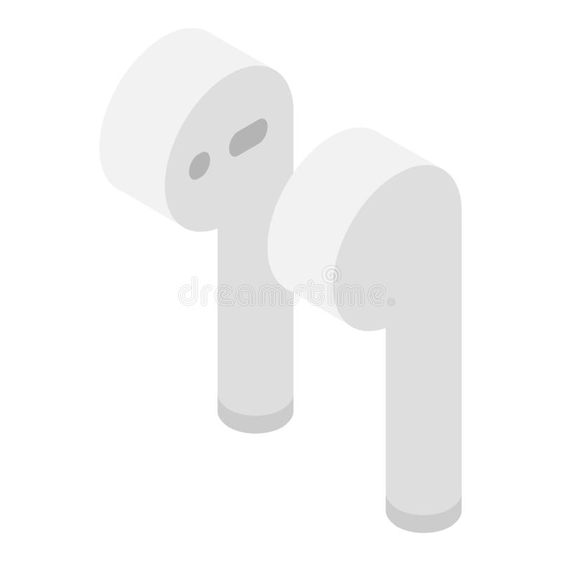 Airpods icon, isometric style royalty free illustration