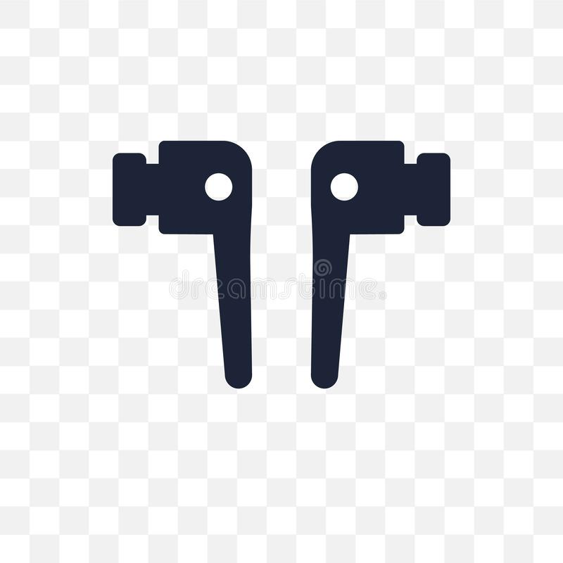 Airpods transparent icon. Airpods symbol design from Internet se royalty free illustration