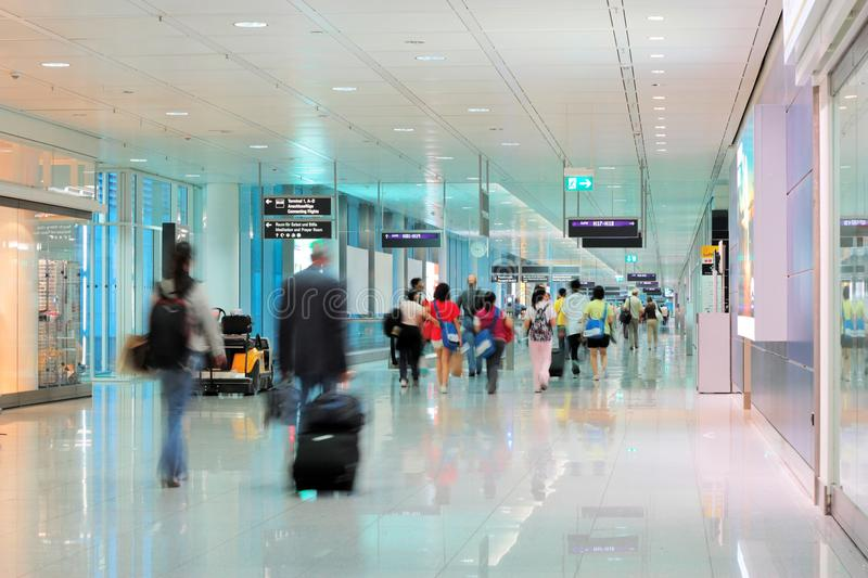 At the airport royalty free stock images