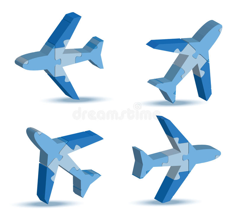 Airport airplane icon in puzzle. Illustration of airport airplane icon in puzzle vector illustration